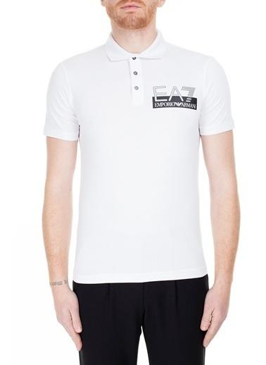 EA7 Emporio Armani  Regular Fit Polo T Shirt Erkek Polo S 6Gpf16 Pj03Z 1100 Beyaz